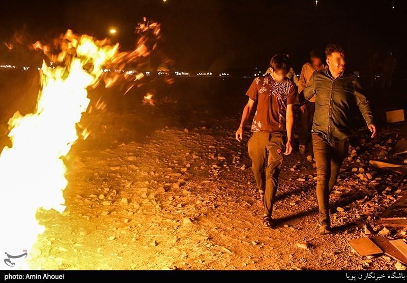 عملیات شبانه پلیس برای برچیدن پاتوق موادفروشها در حاشیه جاده جاجرود