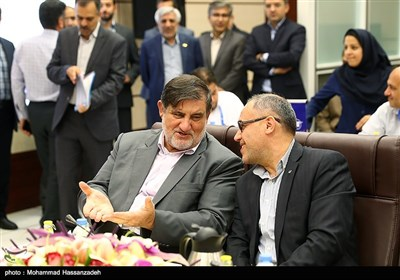 اسماعیل نجار رئیس سازمان مدیریت بحران در مراسم افتتاح مرکز عملیات ایمنی و اضطراری فرودگاهها