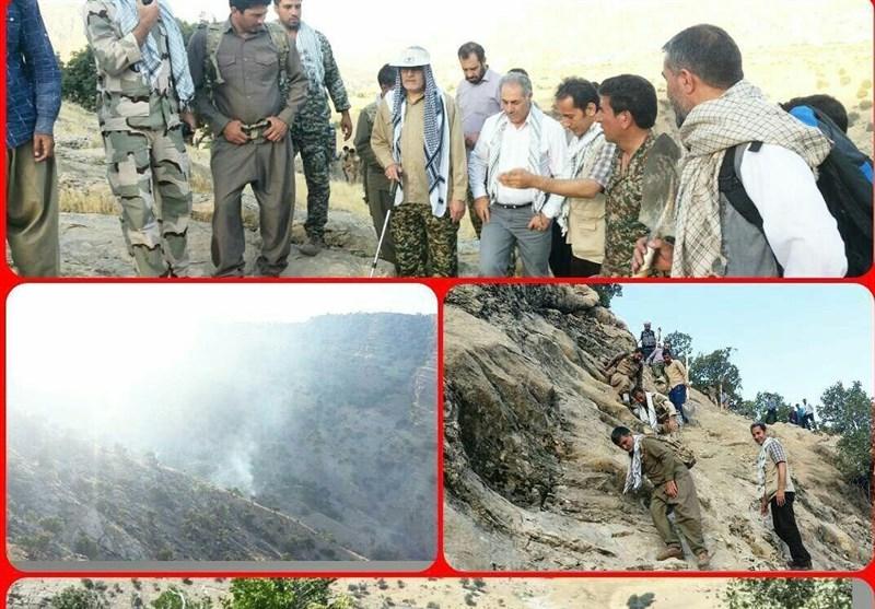 فرمانده سپاه ایلام: آتش سوزی جنگل های چوار پس از 6 ساعت پیاده روی مهار شد