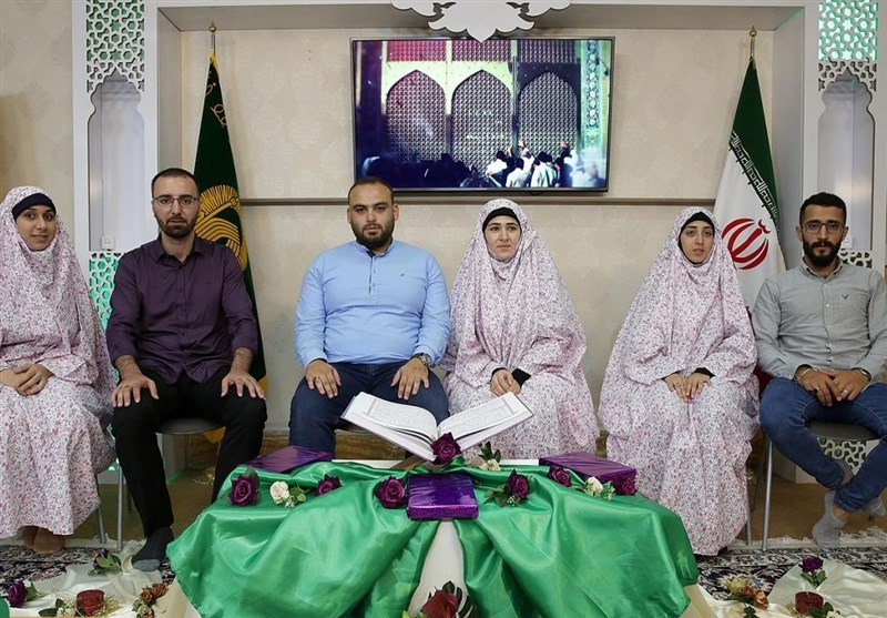 مراسم ازدواج زوجهای خارجی در حرم مطهر رضوی برگزار شد