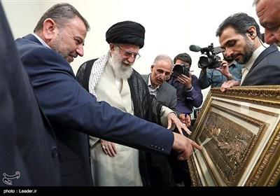 قائد الثورة الاسلامیة یستقبل نائب رئیس المکتب السیاسی لحرکة حماس