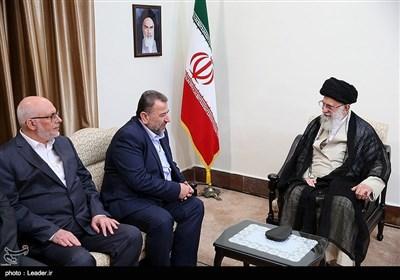 امام خامنهای در دیدار هیئت حماس: جمهوری اسلامی در قضیه فلسطین با هیچ کشوری رودربایستی ندارد