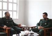 فرمانده نیروی دریایی سپاه با رئیس سازمان بسیج دیدار کرد