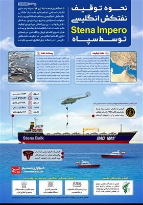 اینفوگرافیک/ نحوه توقیف نفتکش انگلیسی Stena Impero توسط سپاه