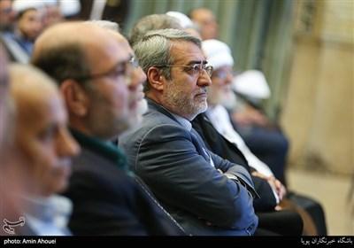 حضور عبدالرضا رحمانی فضلی وزیرکشور در همایش تحریم در تقابل با صلح جهانی از نگاه ادیان
