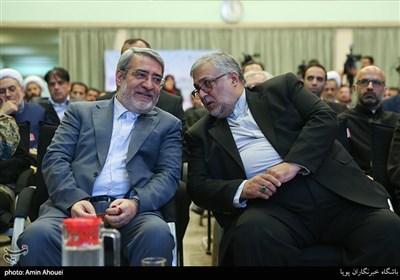 عبدالرضا رحمانی فضلی وزیرکشور در همایش تحریم در تقابل با صلح جهانی از نگاه ادیان