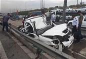 مرگ راننده جوان در اتاقک له شده تیبا + تصاویر