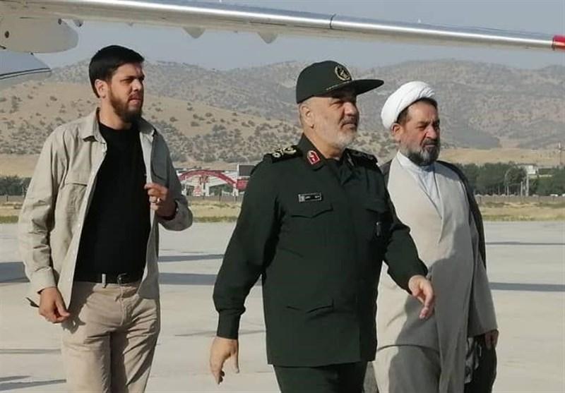 فرمانده سپاه از ارتفاعات مرزی کرمانشاه بازدید کرد