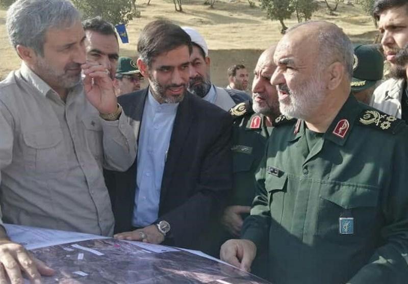 سردار سرلشکر سلامی از محور سیلزده خرمآباد- پلدختر بازدید کرد + فیلم