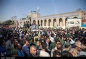 پدر 2 تن از شهدای دفاع مقدس روی دوش مردم قزوین تشییع می شود