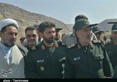 """بازدید سرلشکر سلامی از روستای سیلزده """"مورانی"""" پلدختر + تصاویر"""