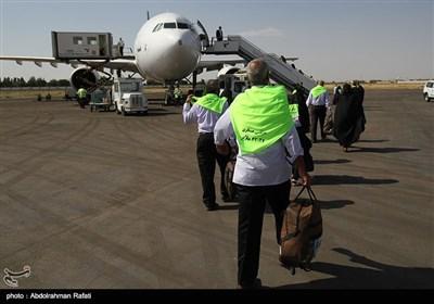 اعزام اولین گروه حجاج بیت الله الحرام از فرودگاه همدان