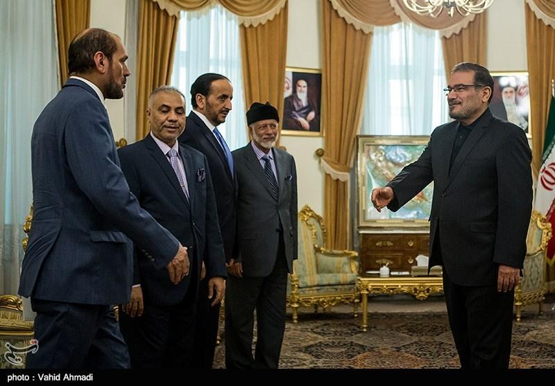دیدار یوسف بن علوی، وزیر امور خارجه عمان با علی شمخانی دبیر شورای عالی امنیت ملی