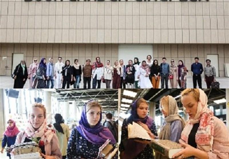 بازدید فارسیآموزان هشتاد و هفتمین دوره دانشافزایی زبان فارسی از باغ کتاب