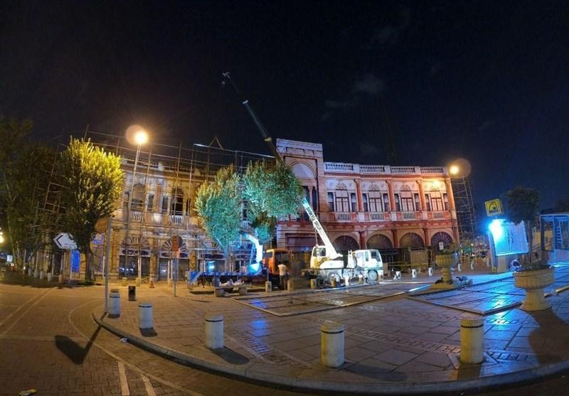 جزئیات مرمت بنای تاریخی میدان حسنآباد