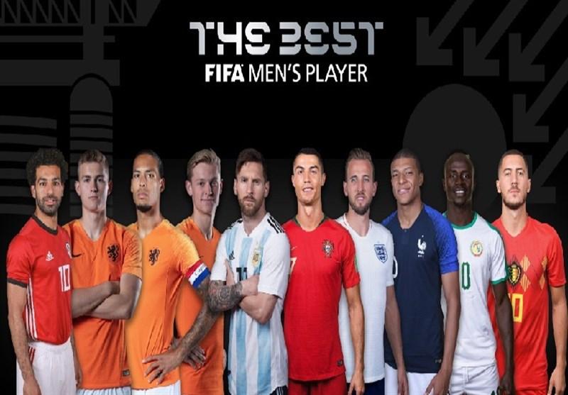 فوتبال جهان| 10 کاندیدای کسب جایزه بهترین فوتبالیست مرد سال معرفی شدند