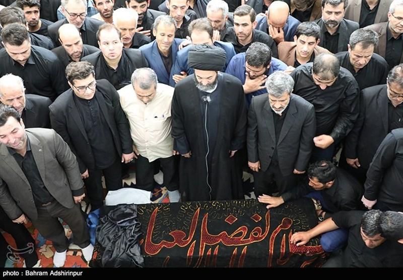 """وداع با پیکر مرحوم """"محمدباقر منصوری"""" در اردبیل برگزار شد + فیلم"""