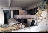 """انفجار شدید ناشی از نشت گاز 8 خانه را در """"نایسر سنندج """" تخریب کرد+تصاویر"""