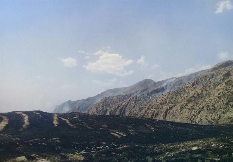 لرستان| 50 هکتار از مراتع «سرطرهان» کوهدشت خاکستر شد