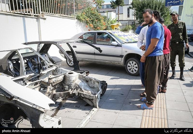 فروش خودروهای سرقتی پس از جعل اسناد خودروهای تصادفی + تصاویر