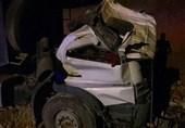 تهران  سقوط مرگبار کامیون به گودال + تصاویر