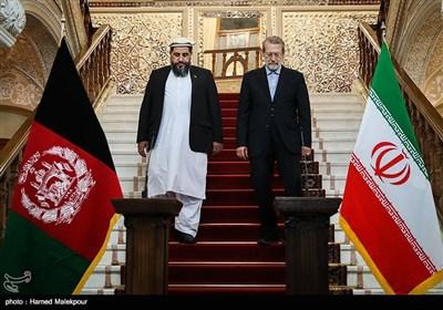 دیدار و کنفرانس خبری رؤسای مجالس ایران و افغانستان