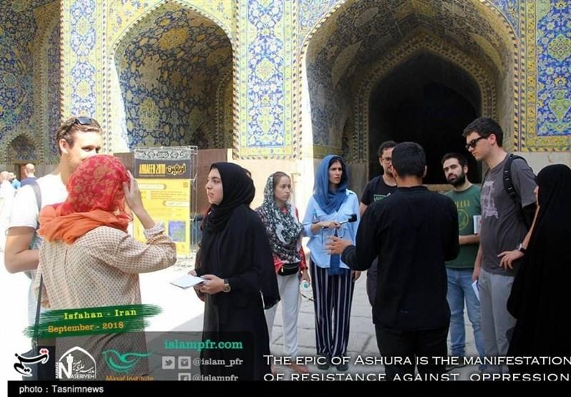 گردشگران خارجی در اصفهان با حقیقت بدون سانسور «مهدویت» آشنا شدند + تصاویر