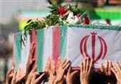 وداع با پیکر شهید خلبان مجید فتحینژاد