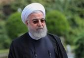 عکس یادگاری روحانی با خبرنگاران