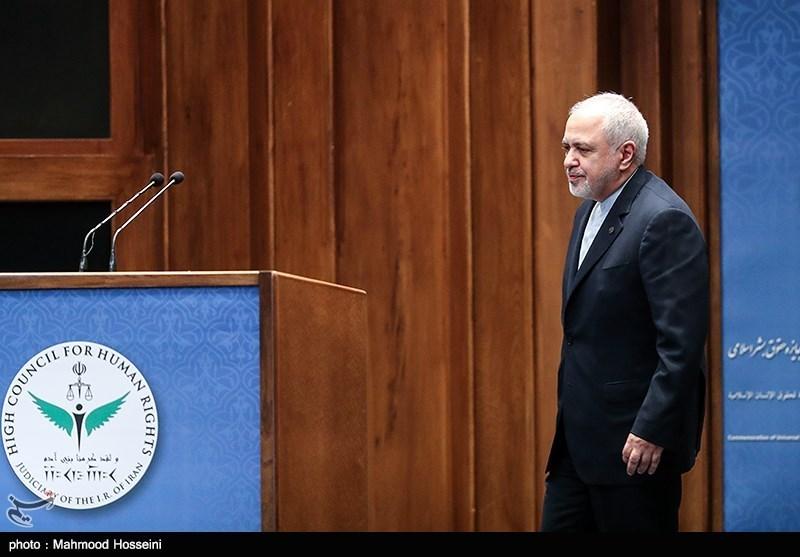محمدجواد ظریف وزیر امور خارجه به همایش بزرگداشت روز حقوق بشر اسلامی و کرامت انسانی