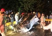 تهران| نجات معجزهآسای راننده پژو 207 از داخل خودروی متلاشی شده + تصاویر