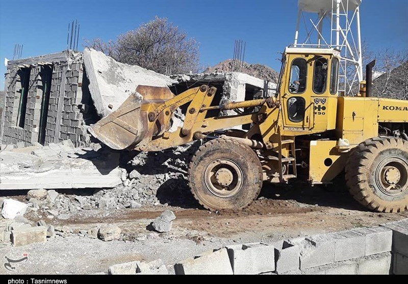 10 ساخت و ساز غیر مجاز در بویراحمد و دنا تخریب شد + تصاویر