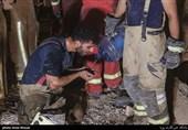 عملیات طاقت فرسای آواربرداری در ساختمان تخریب شده