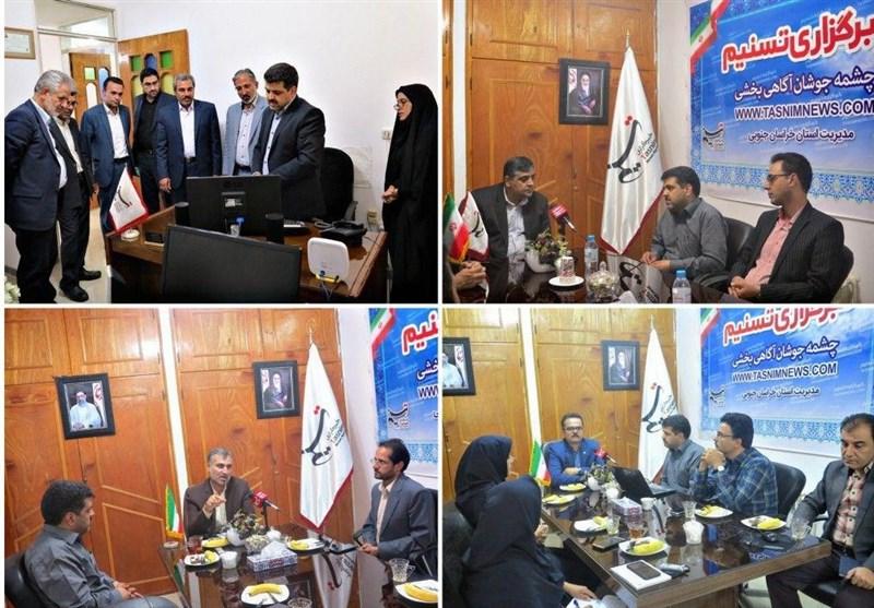 تکریم مسئولان از خبرنگاران تسنیم خراسان جنوبی به روایت تصویر