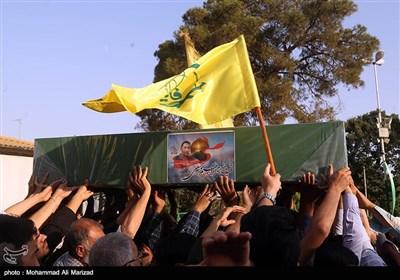 تشییع شهید مدافع حرم ابراهیم توسلی از تیپ فاطمیون