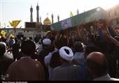 مراسم تشییع شهید مدافع حرم در قم به روایت تصاویر