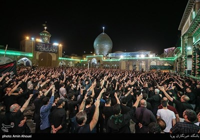 حرم حضرت عبدالعظیم میں حضرت مسلم بن عقیل کی شہادت کی مناسبت سے عزاداری