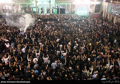 آخرین شب عزاداری ایام مسلمیه در حرم حضرت عبدالعظیم(ع)