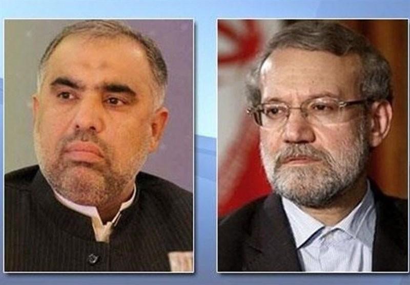 اسد قیصر کا ایرانی ہم منصب علی لاریجانی سے ٹیلیفونک رابطہ، کشمیر کی صورتحال پر تبادلہ خیال