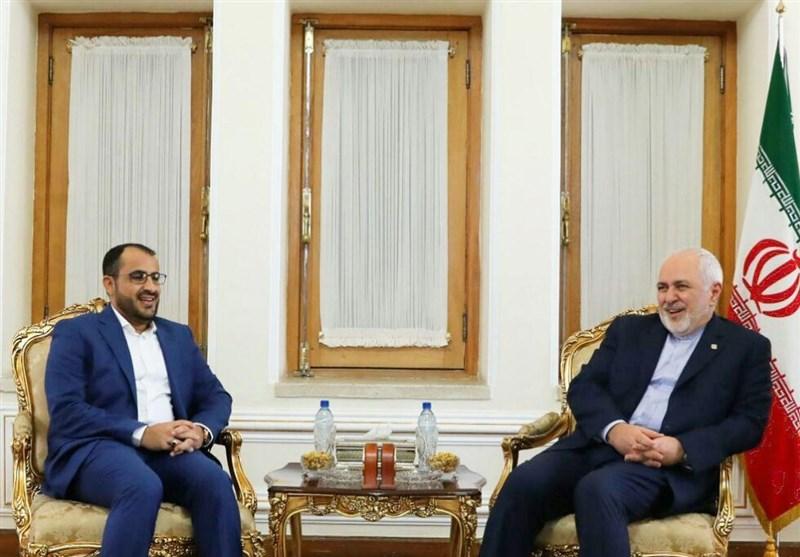 دیدار سخنگوی انصارالله یمن با ظریف+ تصاویر