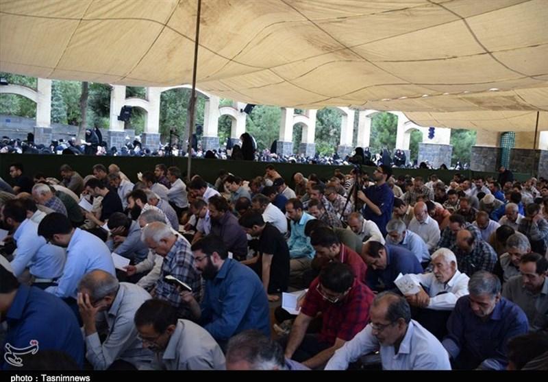 مراسم پر فیض دعای عرفه در همدان برگزار شد+تصاویر