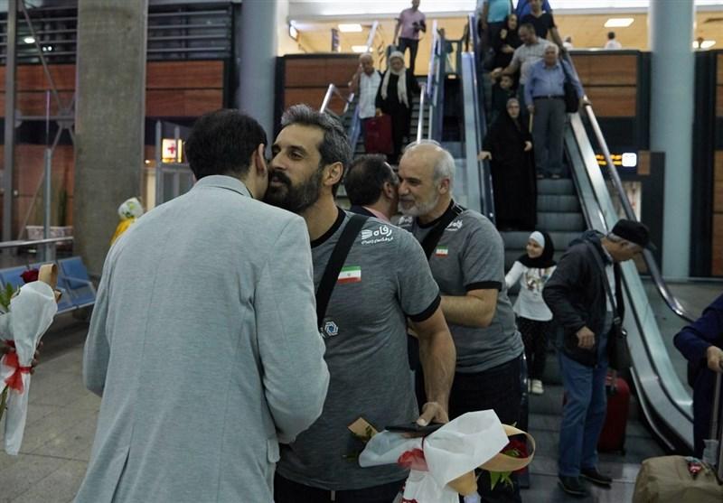تیم ملی والیبال وارد تهران شد