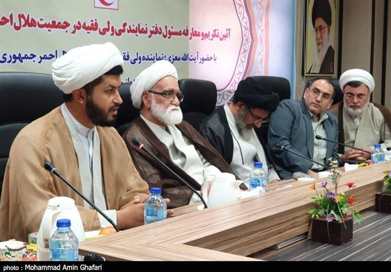 مراسم تکریم و معارفه مسئول دفتر نهاد نمایندگی ولیفقیه در جمعیت هلال احمر خوزستان به روایت تصویر
