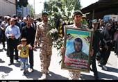 کردستان| وداع با پیکر مطهر شهید «عبدی» در قروه+ تصویر