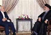 پیام سید حسن نصرالله به ظریف: شما صدایی رسا در همه محافل بینالمللی هستید