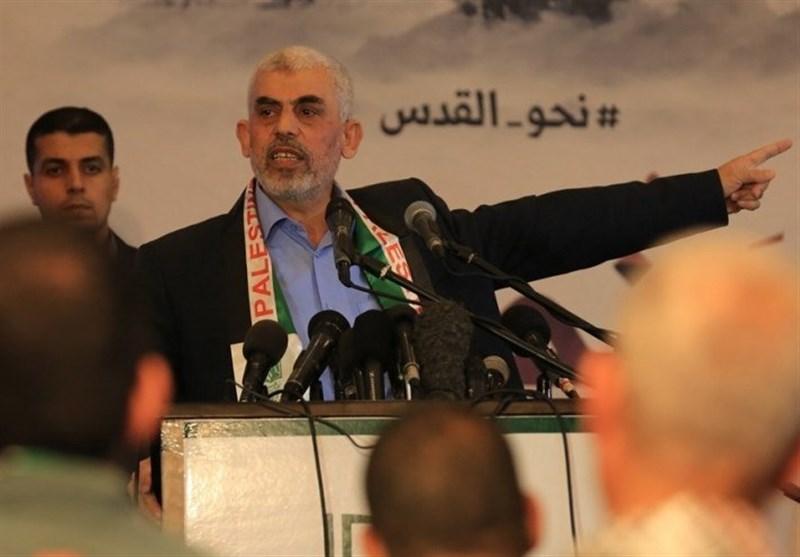 """السنوار: """"حماس"""" ستبقى عونًا وسندًا لکلّ من یرید التسلّح بمواقفها تجاه العدو"""