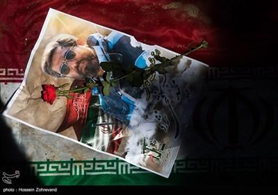 تشییع استاد خلبان بسیجی شهید مجید فتحی نژاد