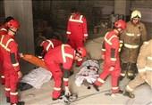 تهران  سقوط مرگبار 2 نصاب به چاهک آسانسور + تصاویر