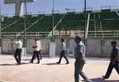 بازدید سعید آذری از روند آمادهسازی ورزشگاه فولادشهر + تصاویر
