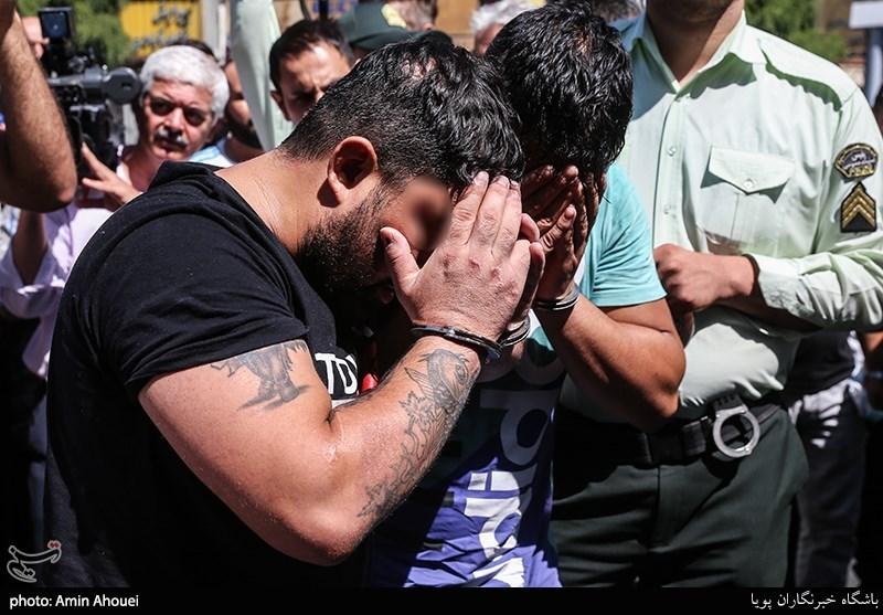 تهران| بازداشت اراذلی که با شمشیر به جان مردم افتادند + تصاویر